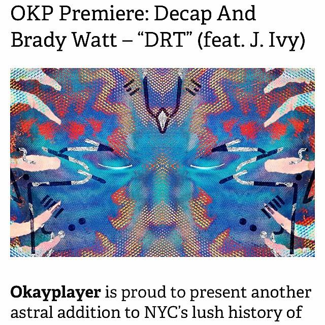 GOOD PEOPLE!! It's time to take a break and scoot on over to okayplayer.com for the premier of @decapmusic & @nyceonthebass  #DRT  feat Yours Truly! This joint is so refreshing and the album  #Qi , which is being released on Monday April 10th, is CRAZY!!  #GetInTune  @okayplayer