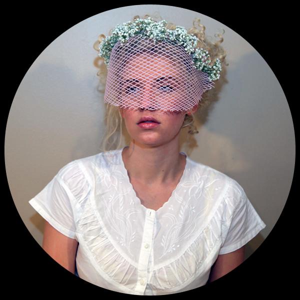 Pink Bridesmaid Veil Portrait