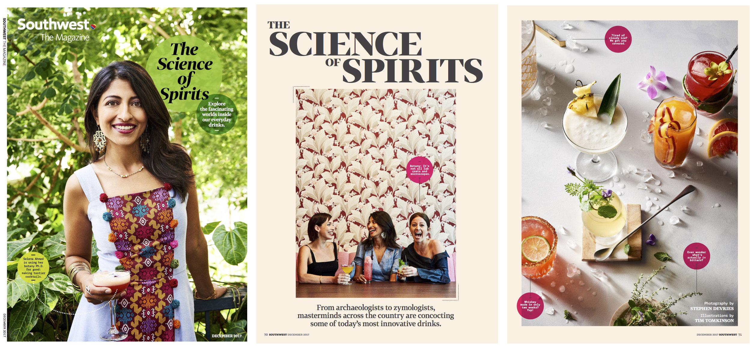 Shoots & Roots featured as the December 2017 cover story in the inflight magazine of Southwest Airlines.