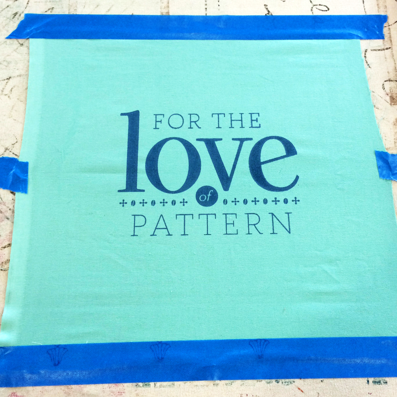 Screen Print For the Love of Pattern #loveofpattern www.loveofpattern.com