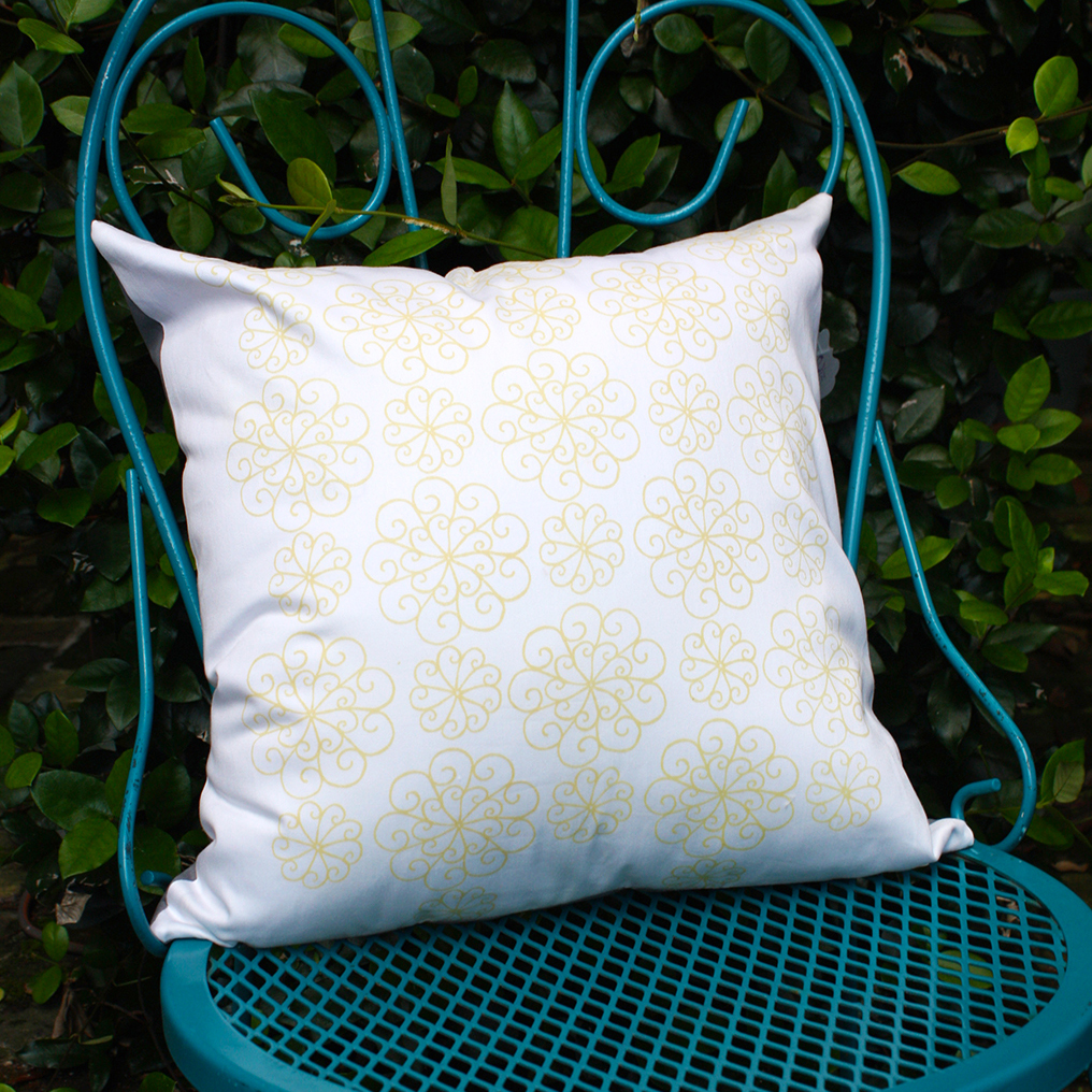 Wheel Courtyard Pillow by For the Love of Pattern #loveofpattern www.loveofpattern.com