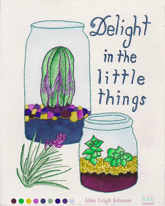 """Delight in the Little Things"" by Abby Leigh Johnson of For the Love of Pattern (GTS2014 Round 1)"