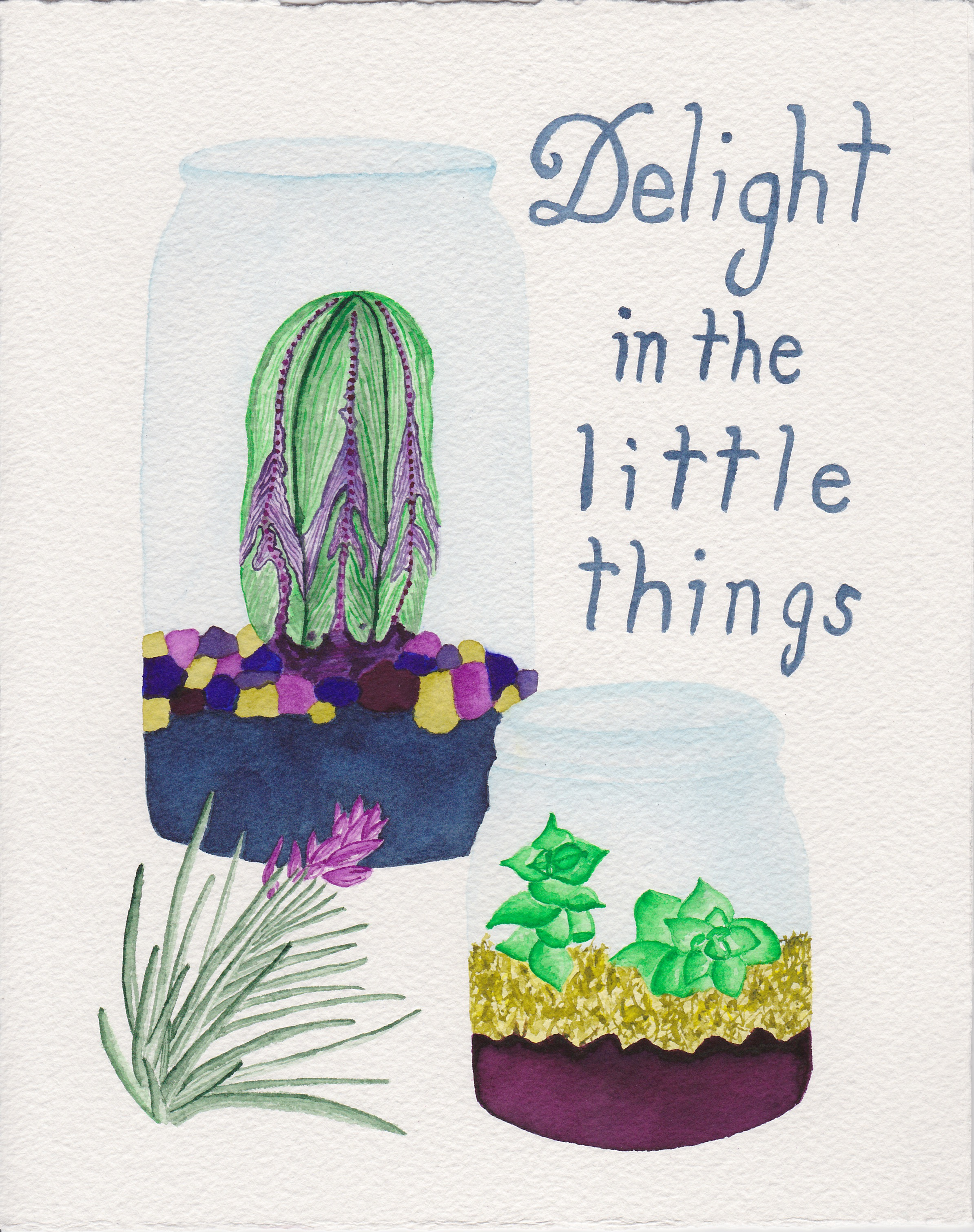 Delight in the Little things by Abby Leigh Johnson of For the Love of Pattern - watercolor - #loveofpattern www.loveofpattern.com