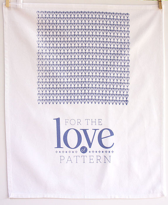 For the Love of Pattern Limited Edition Logo Tea Towel