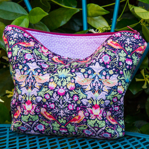 Handmade For the Love of Pattern Cosmetic Bag www.loveofpattern.com