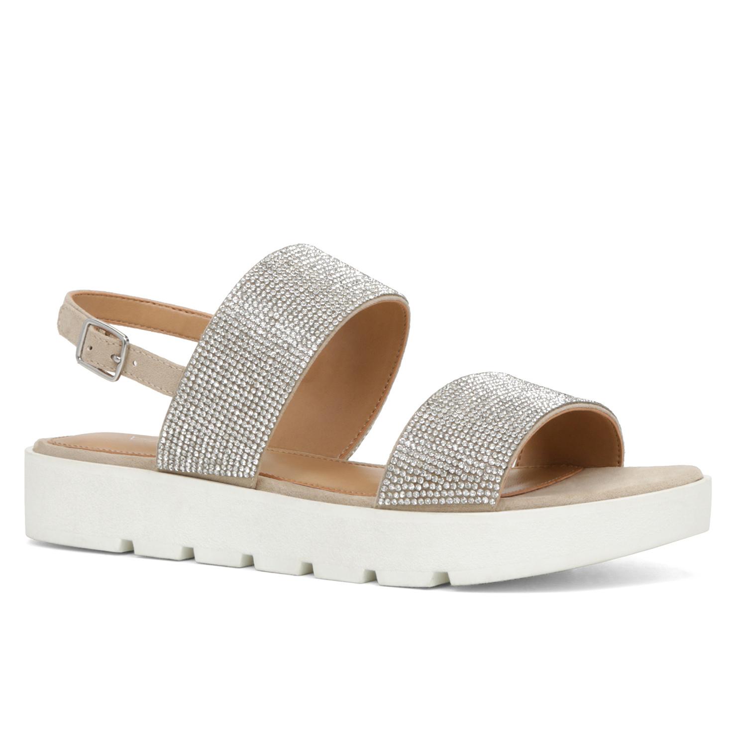 aldo white flat sandals.JPG