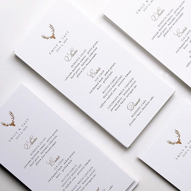 #menus to pair with our #Vail inspired suite ✨