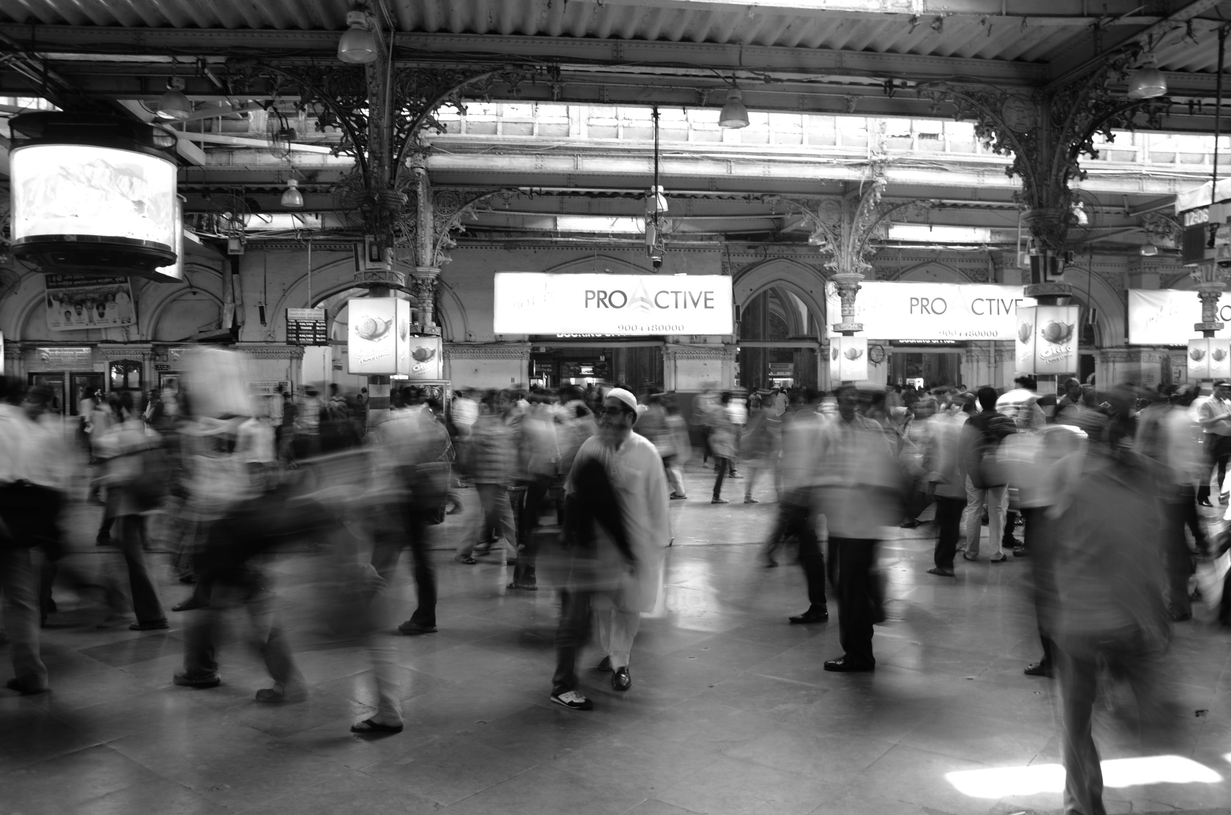 The busy madness of VT station