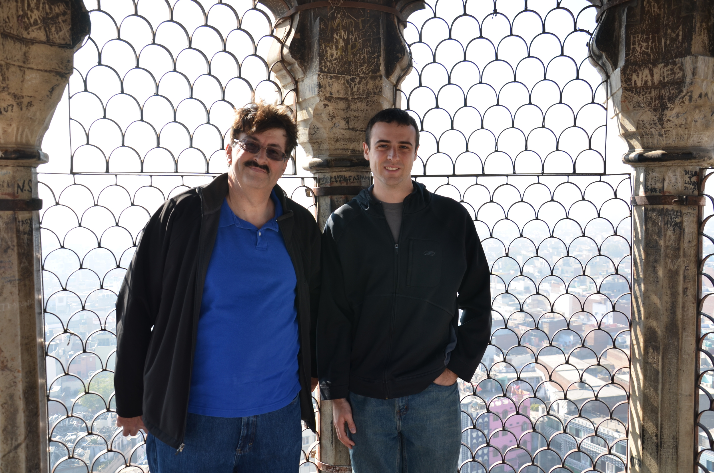 Dad and I atop the minaret