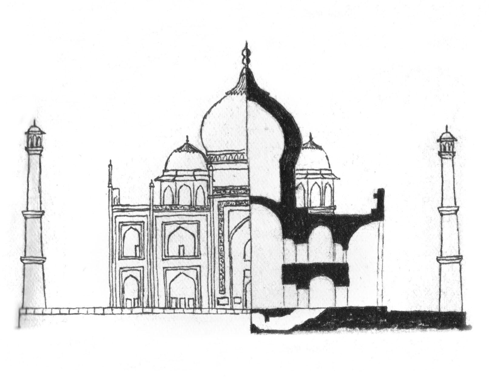 Taj Mahal section-elevation.jpg