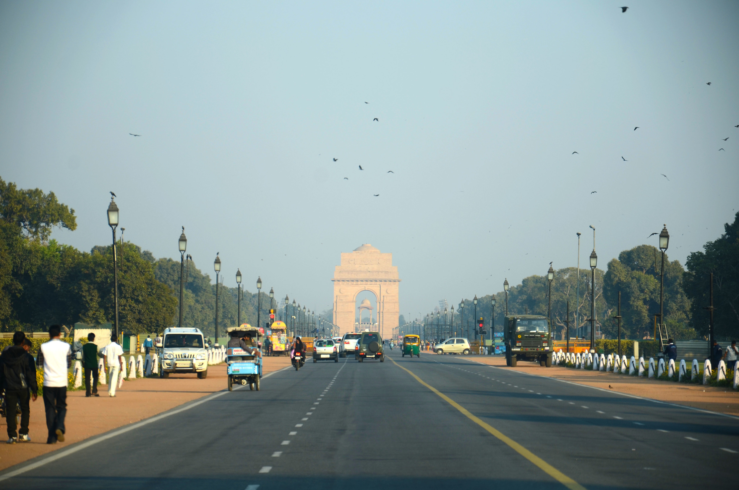 India Gate in the distance
