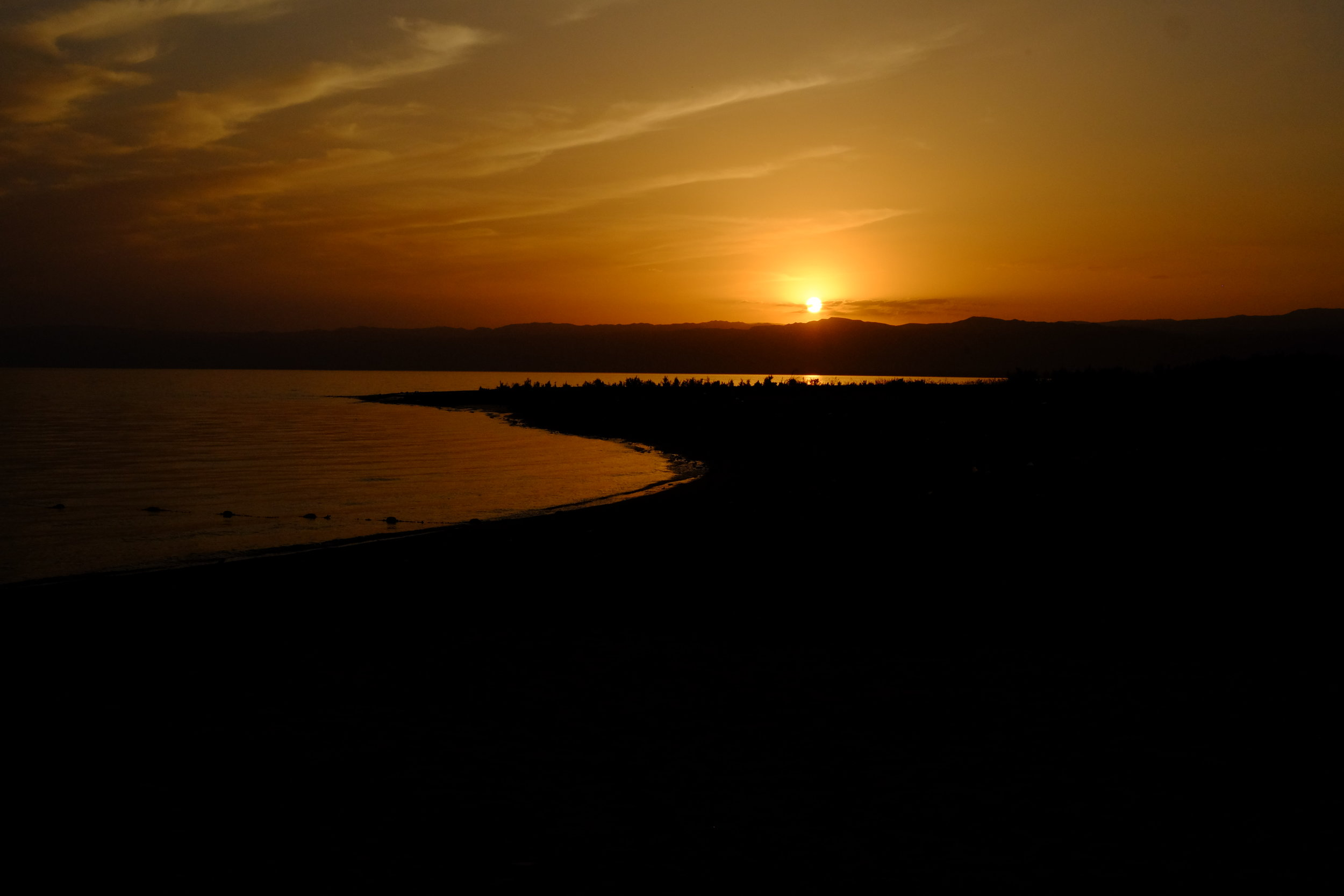 #NoFilter sunset at the Dead Sea