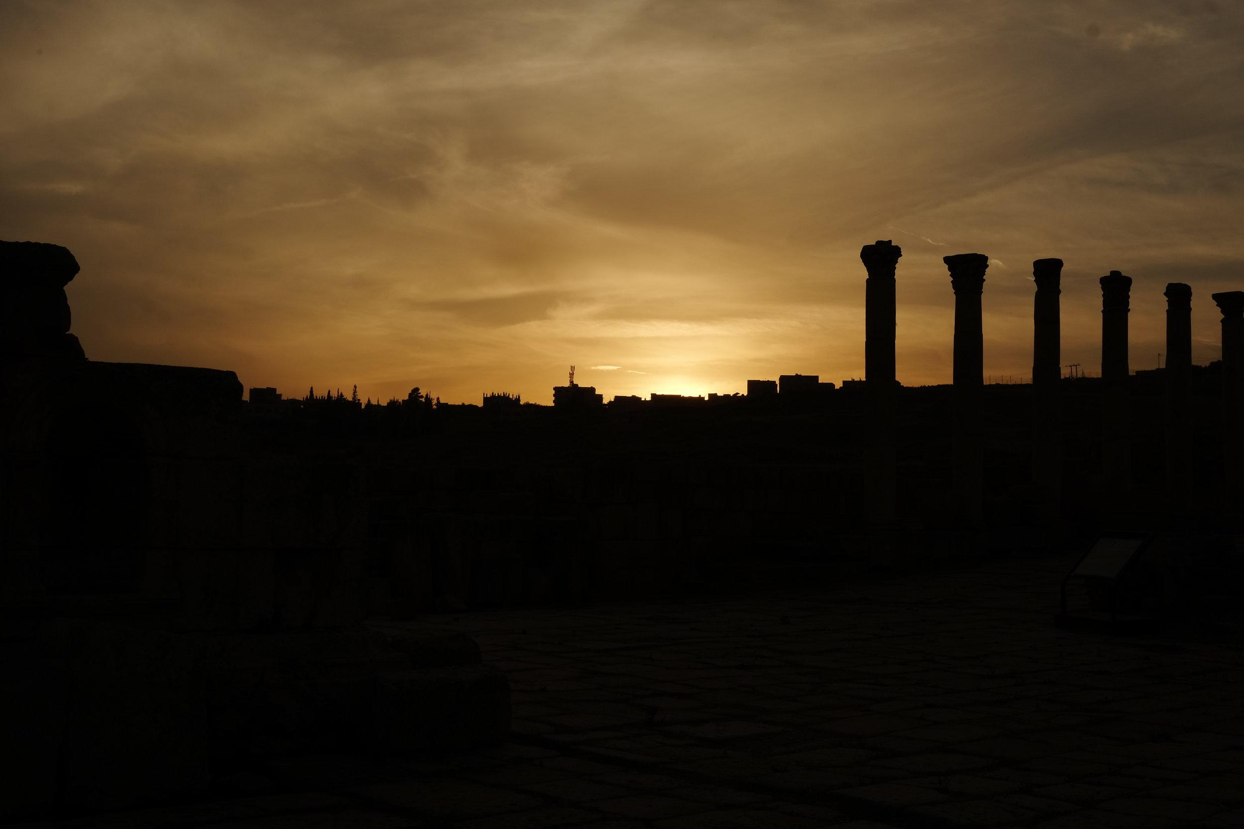 Amazing Middle Eastern sunset