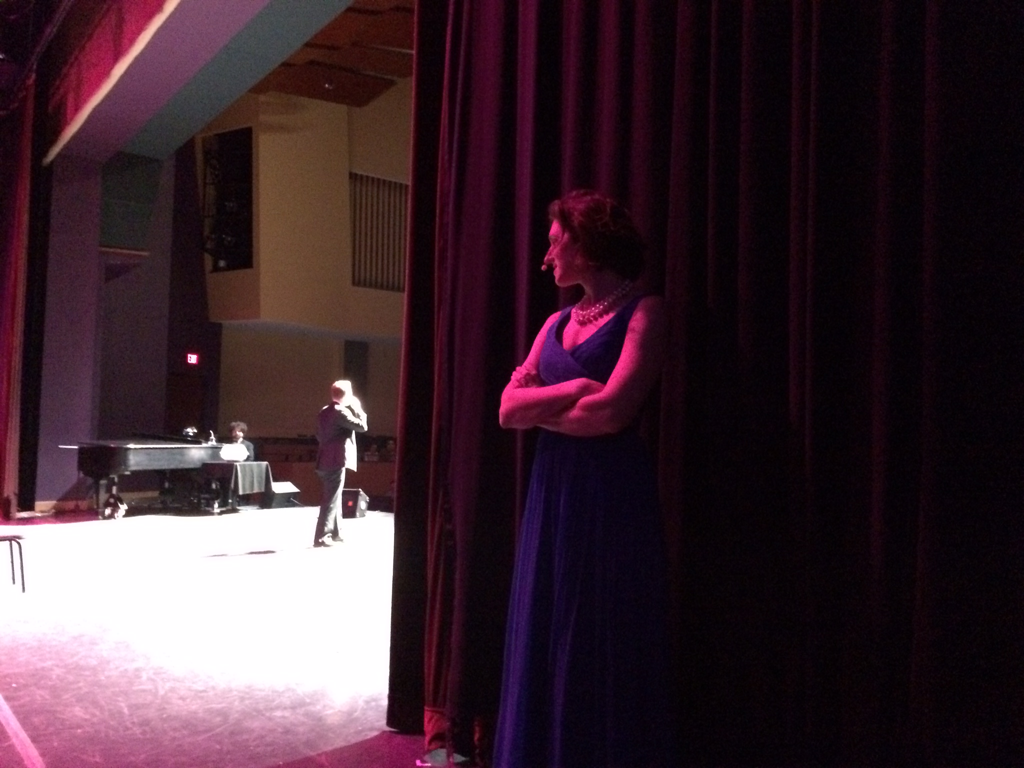 In the wings.
