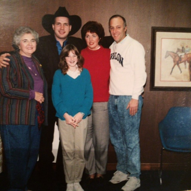 Mine and my parents' and grandma's brush with greatness with Garth Brooks circa 1992.