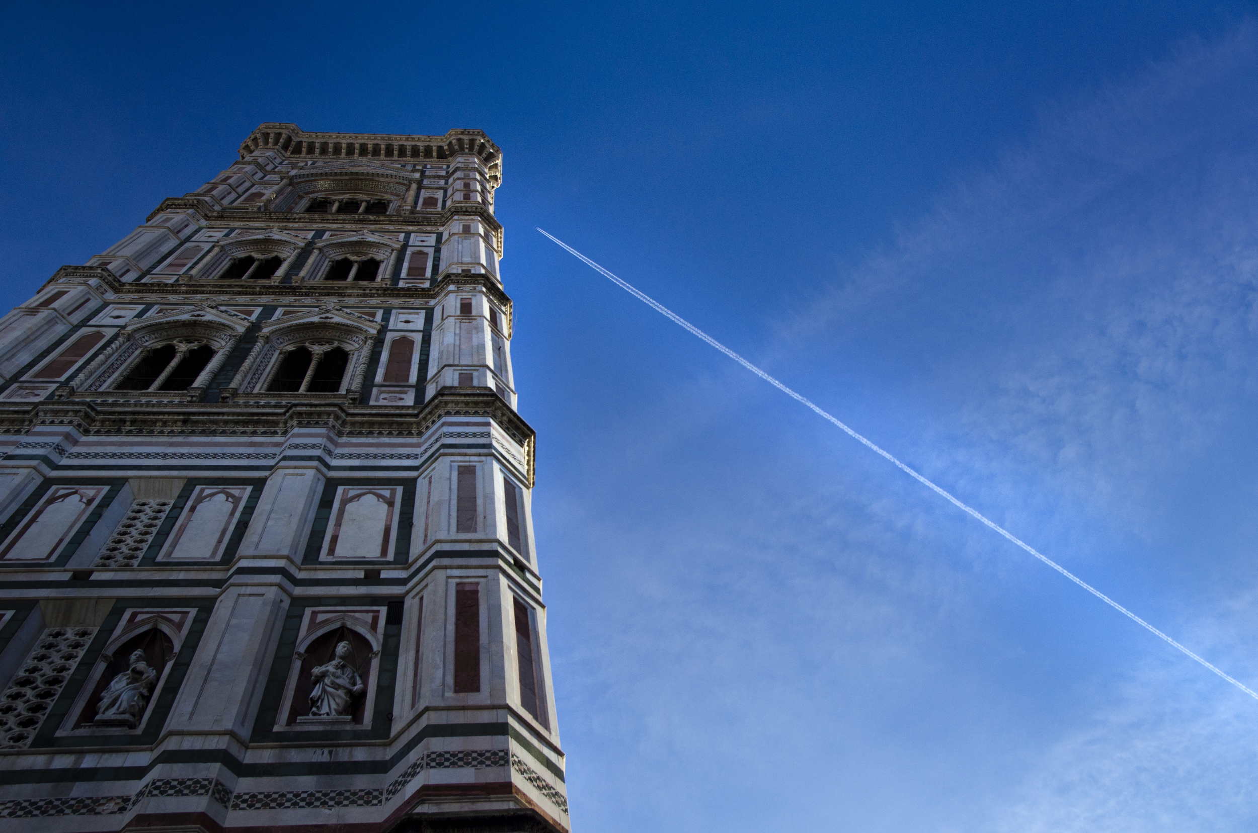 The clang of the bells of the Bell Tower of The Duomo in Florence, Italy boomed through the morning air on All Saint's Day on Sunday, November 2, 2014.