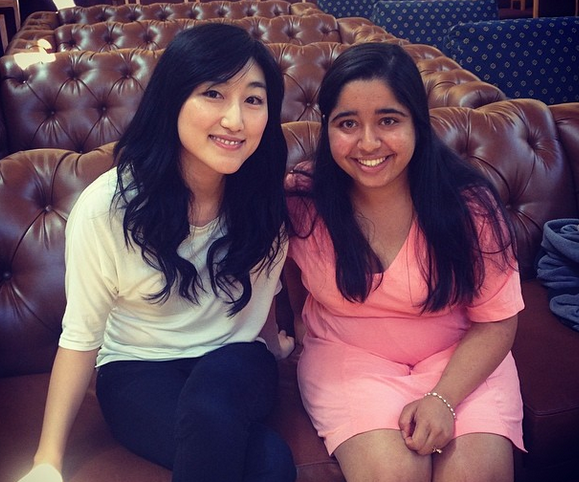 Me with fellow speaker, co-founder and CEO of Polyvore, Jess Lee (and a Stanford CS alum!)