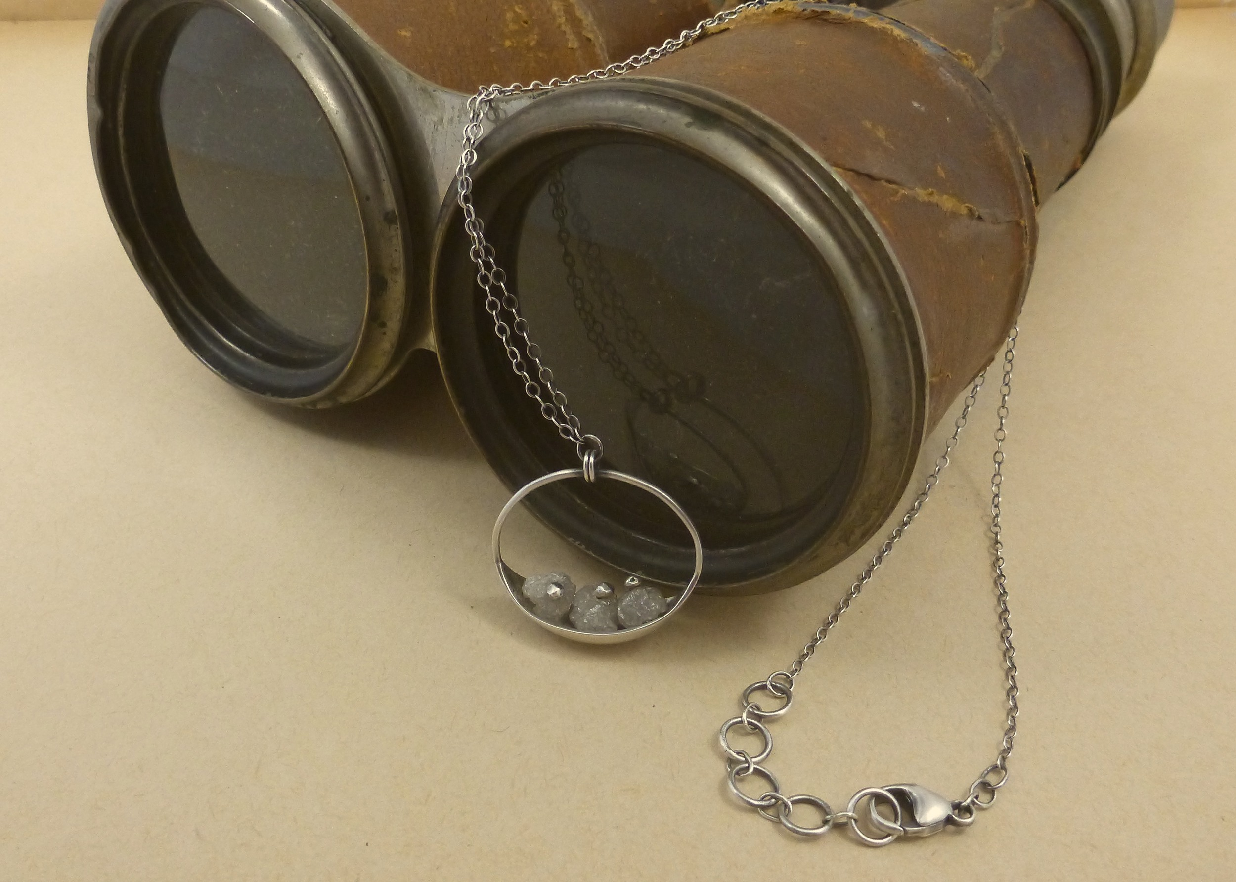 Sweet Voyage Necklace with Rough Diamond Beads