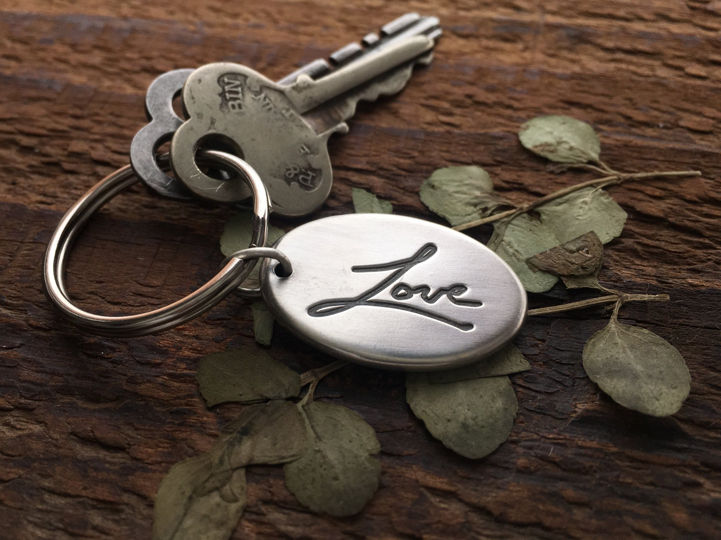 Personalized Gift for Him Handwriting Keychain