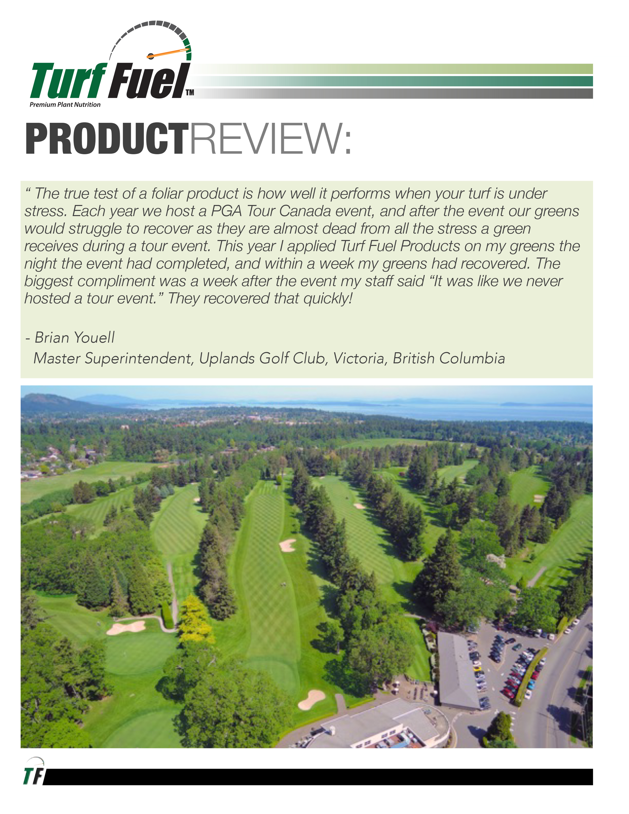 PRODUCT REVIEW Uplands GC