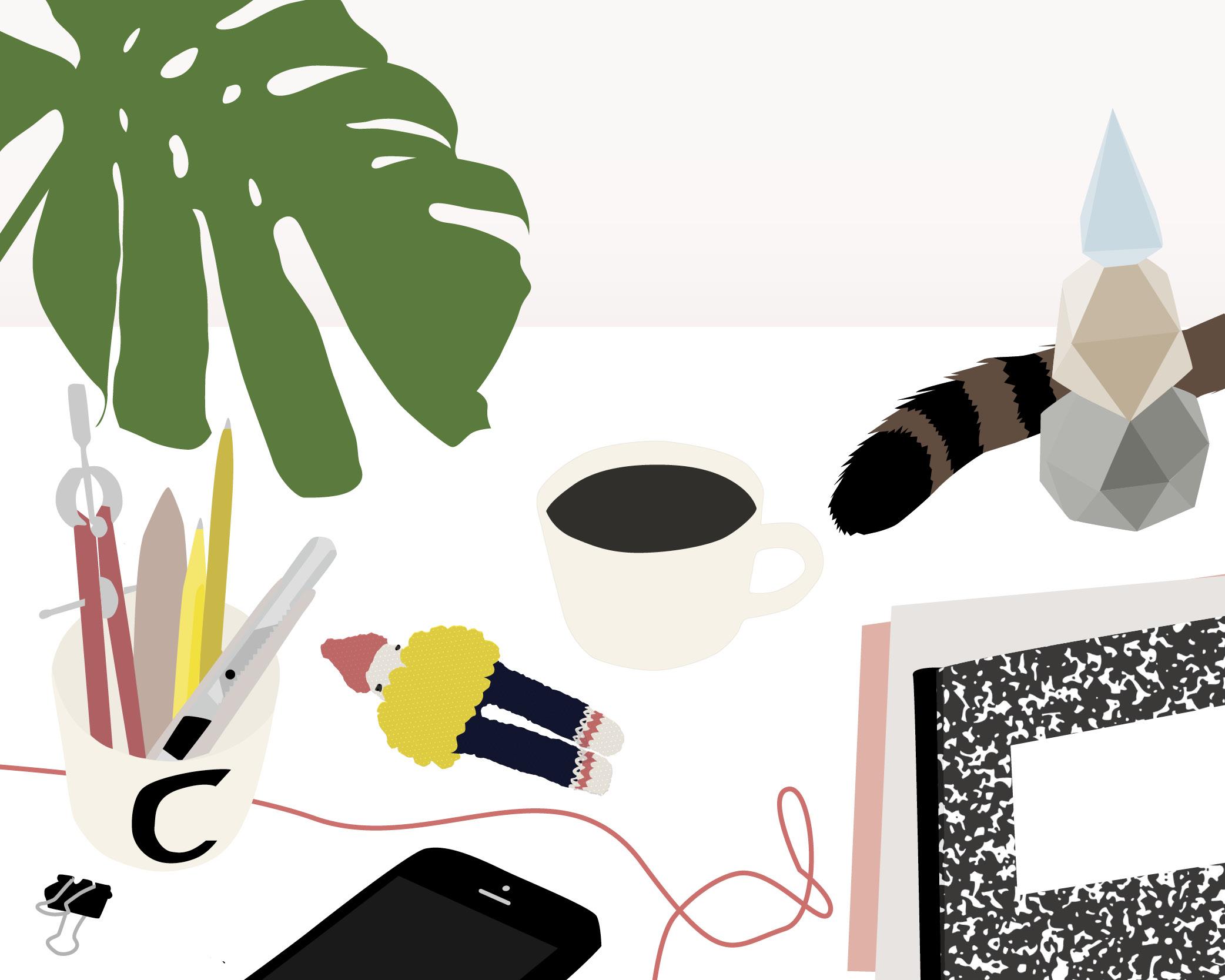Auf meinem Schreibtisch von Clauia für herzundblut.com