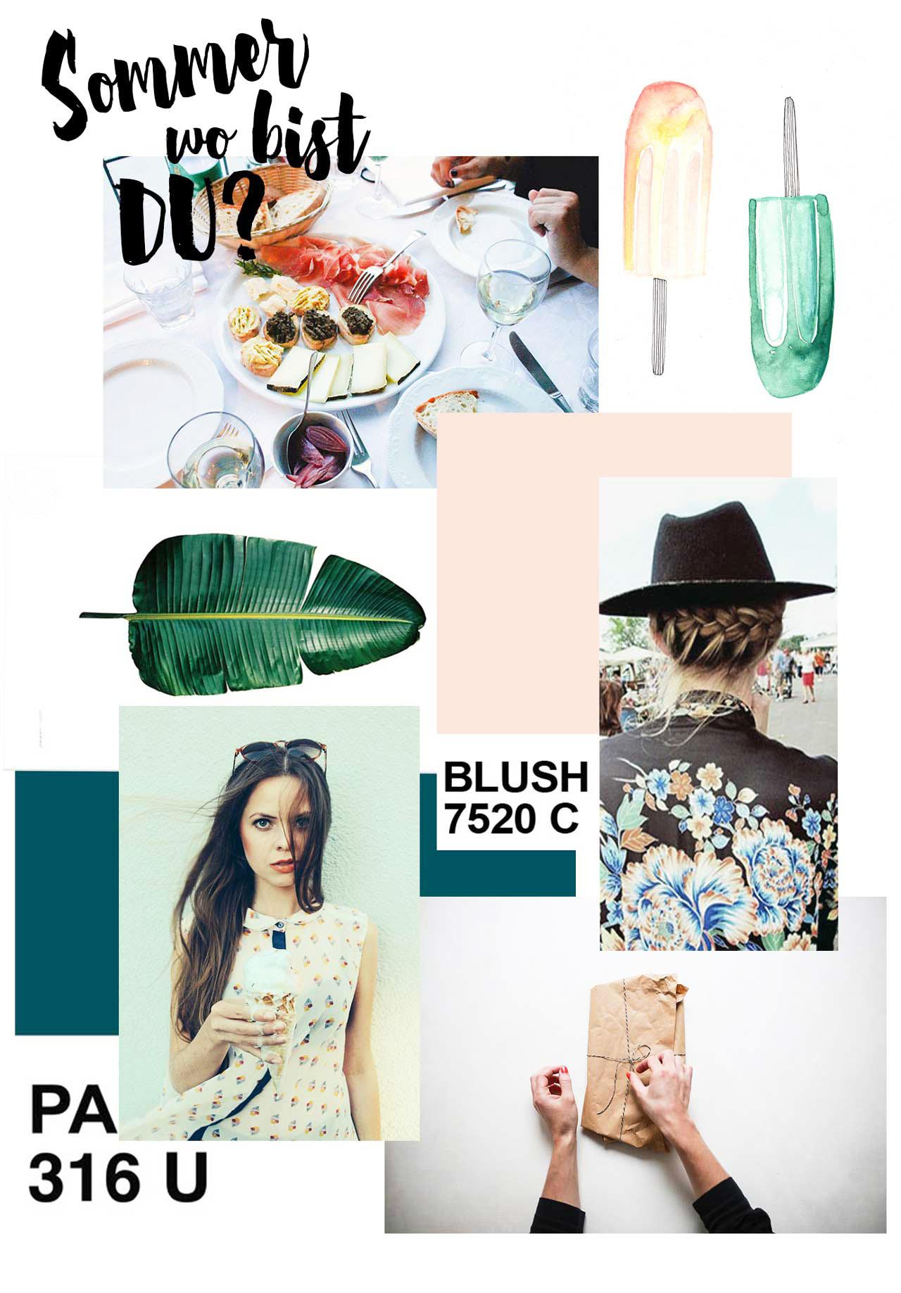 Sommer wo bist du?- Collage für herzundblut.com