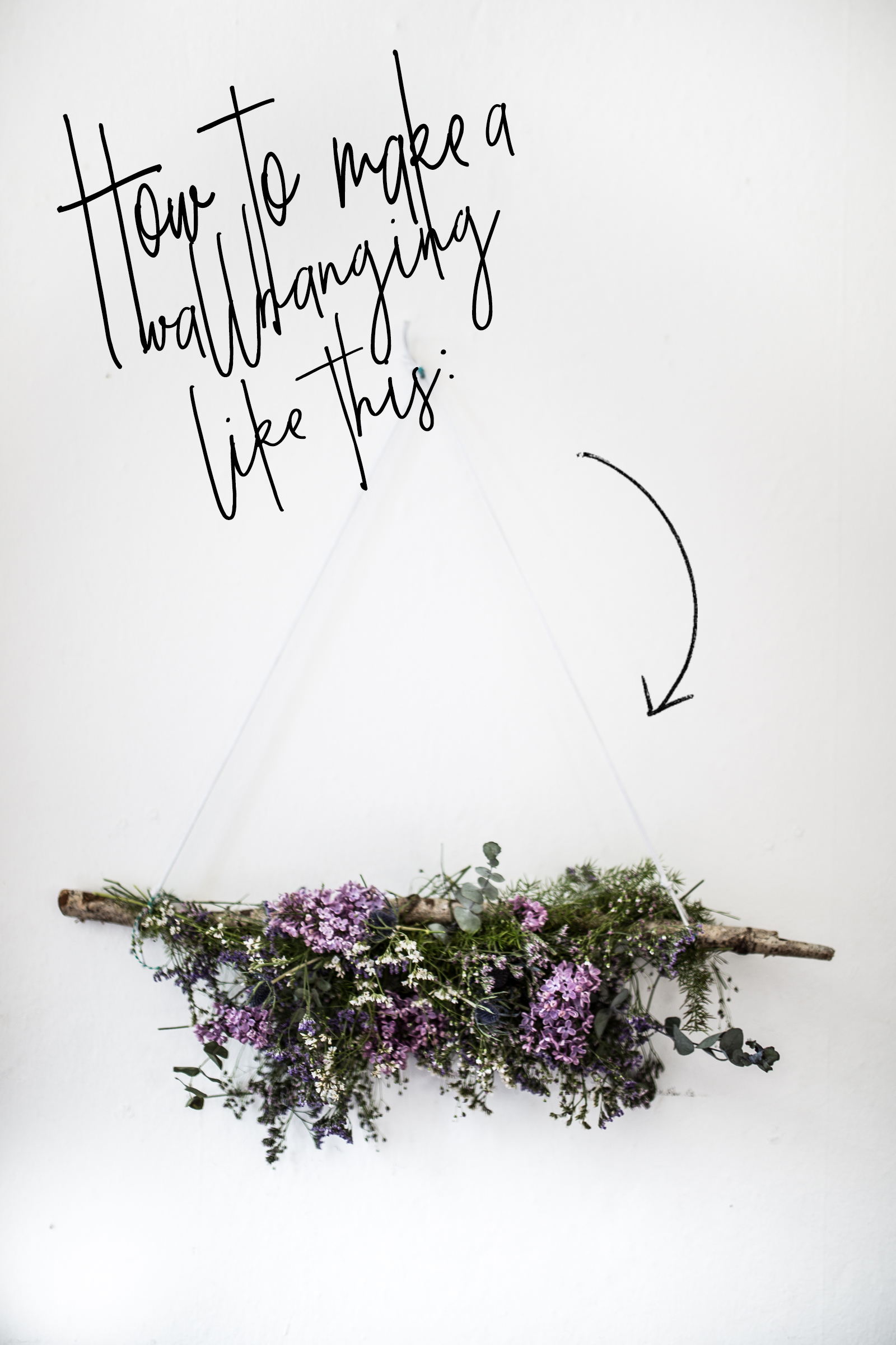 How to make a flower wallhanging