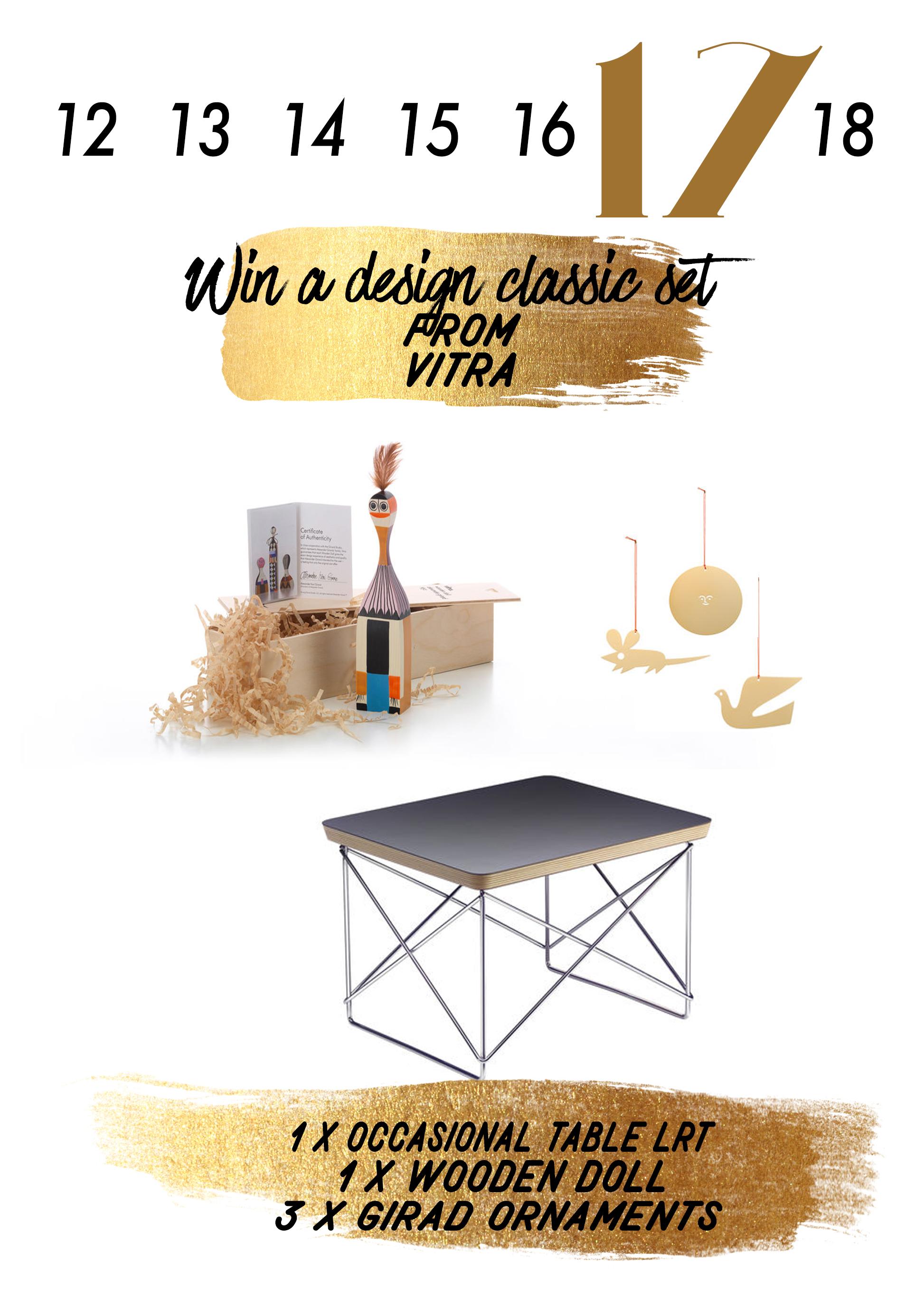 In Türchen 17 verlosen wir ein Design Classic Set von Vitra