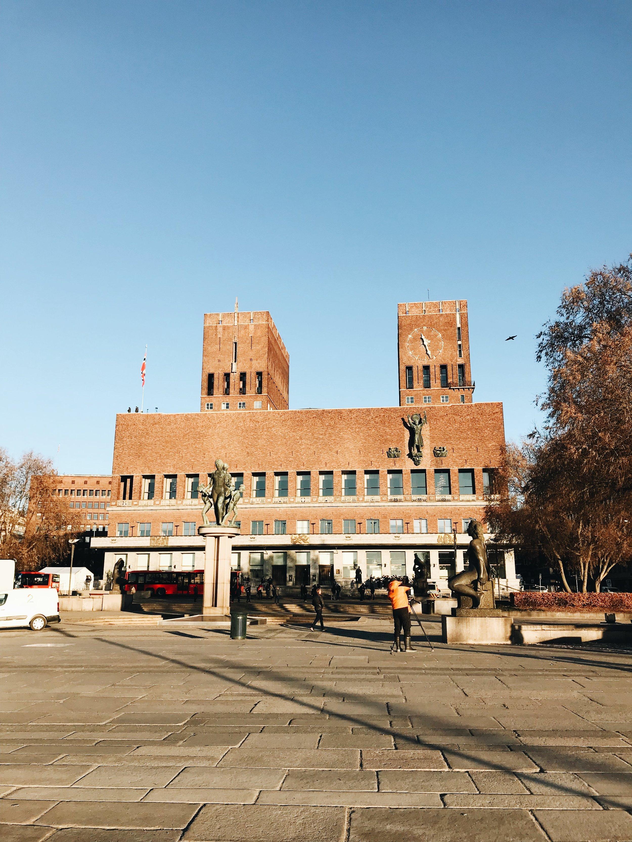 Im Osloer Rathaus wird der Friedensnobelpreis verliehen