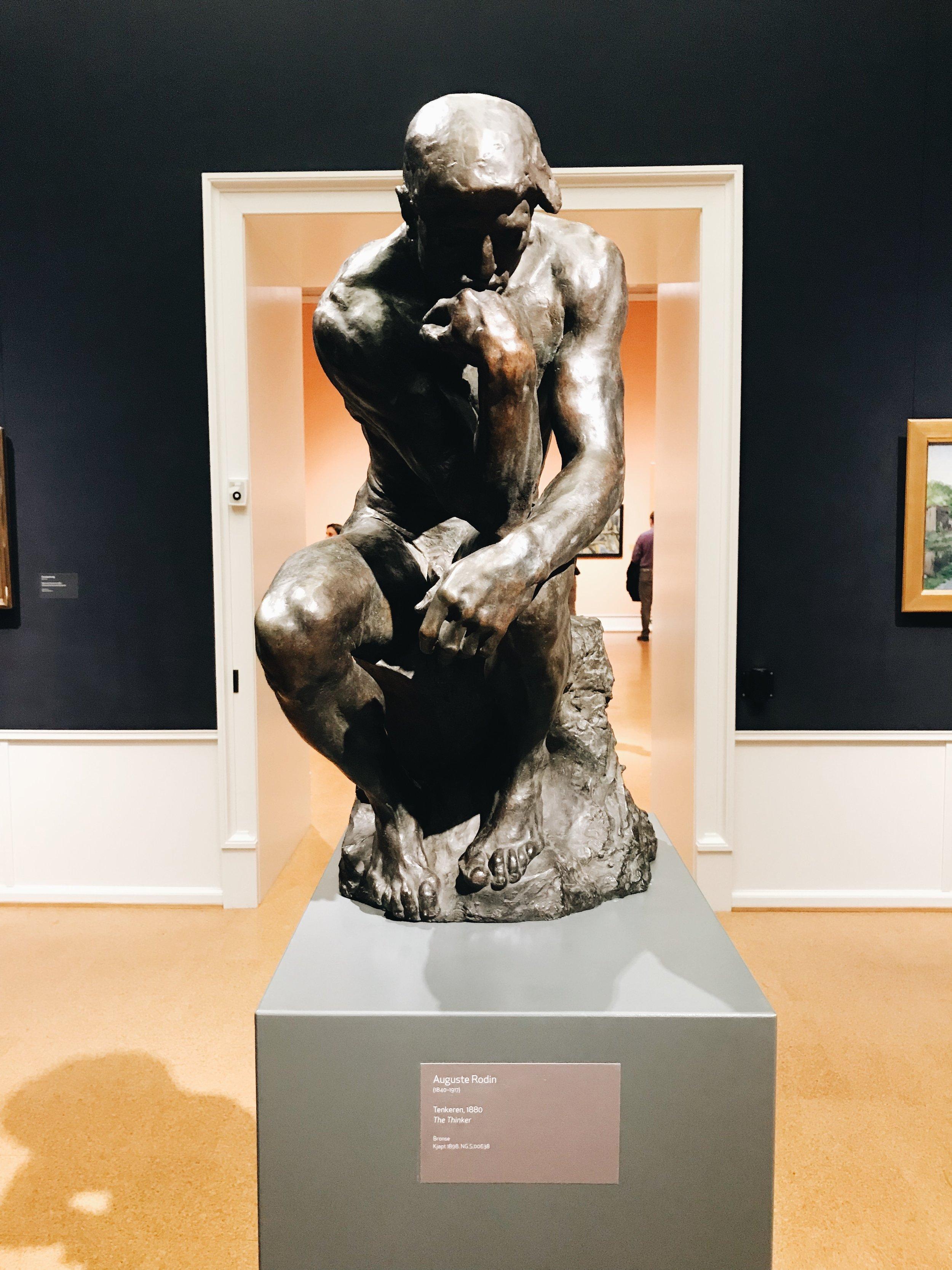 Auch Rodins Denker findet ihr in der wundervoll kuratierten Ausstellung.