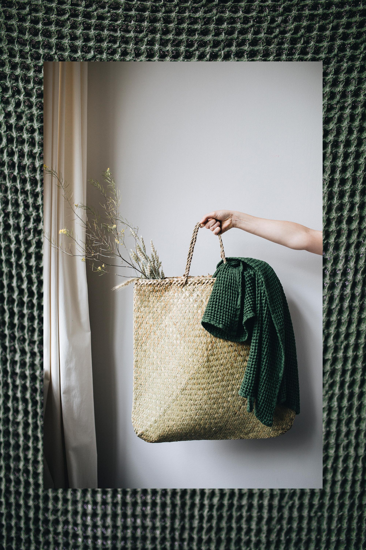 Tasche aus Seegras  /  Handtuch
