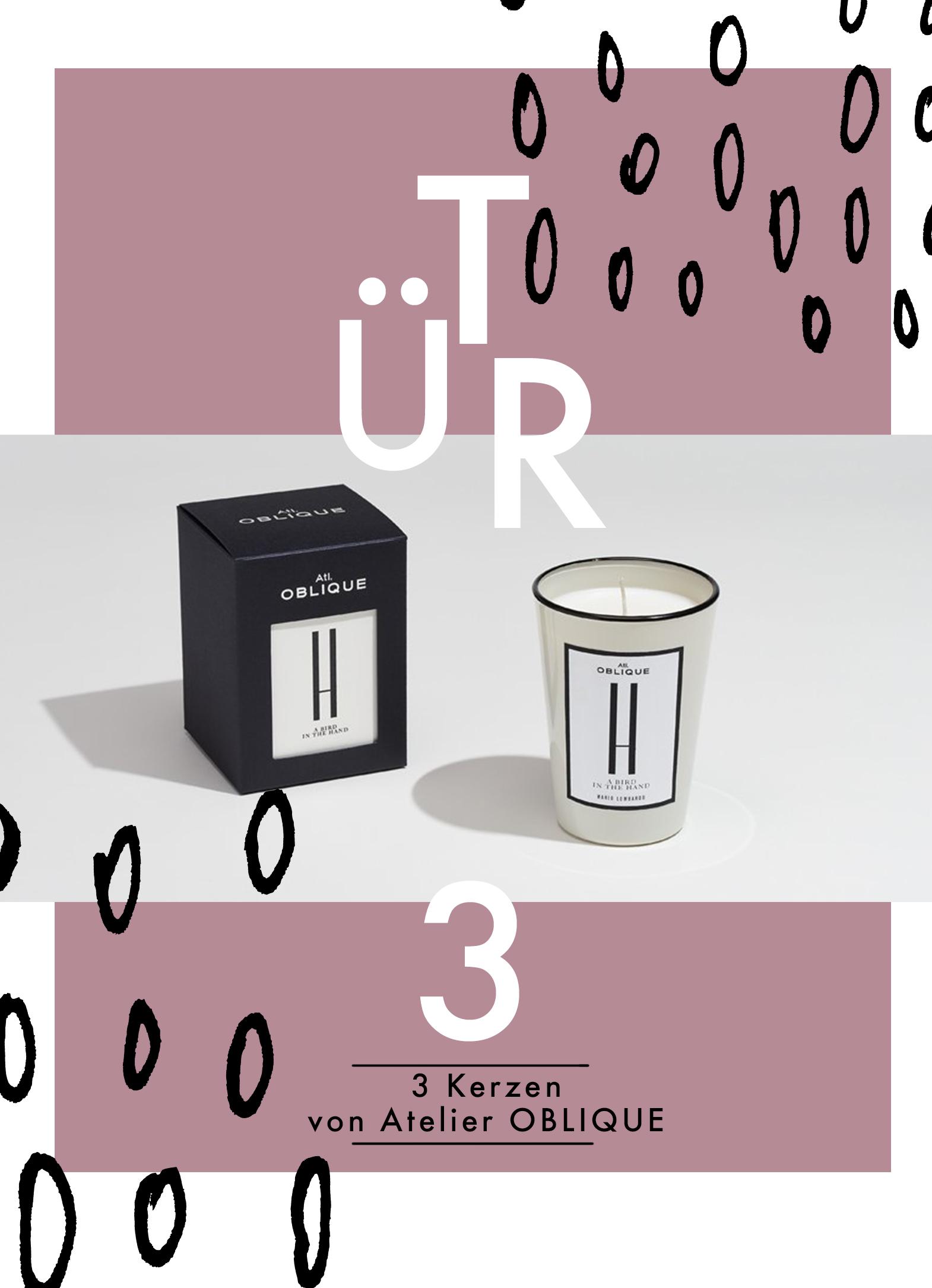 TÜR 3: Kerzenset von Atelier Oblique