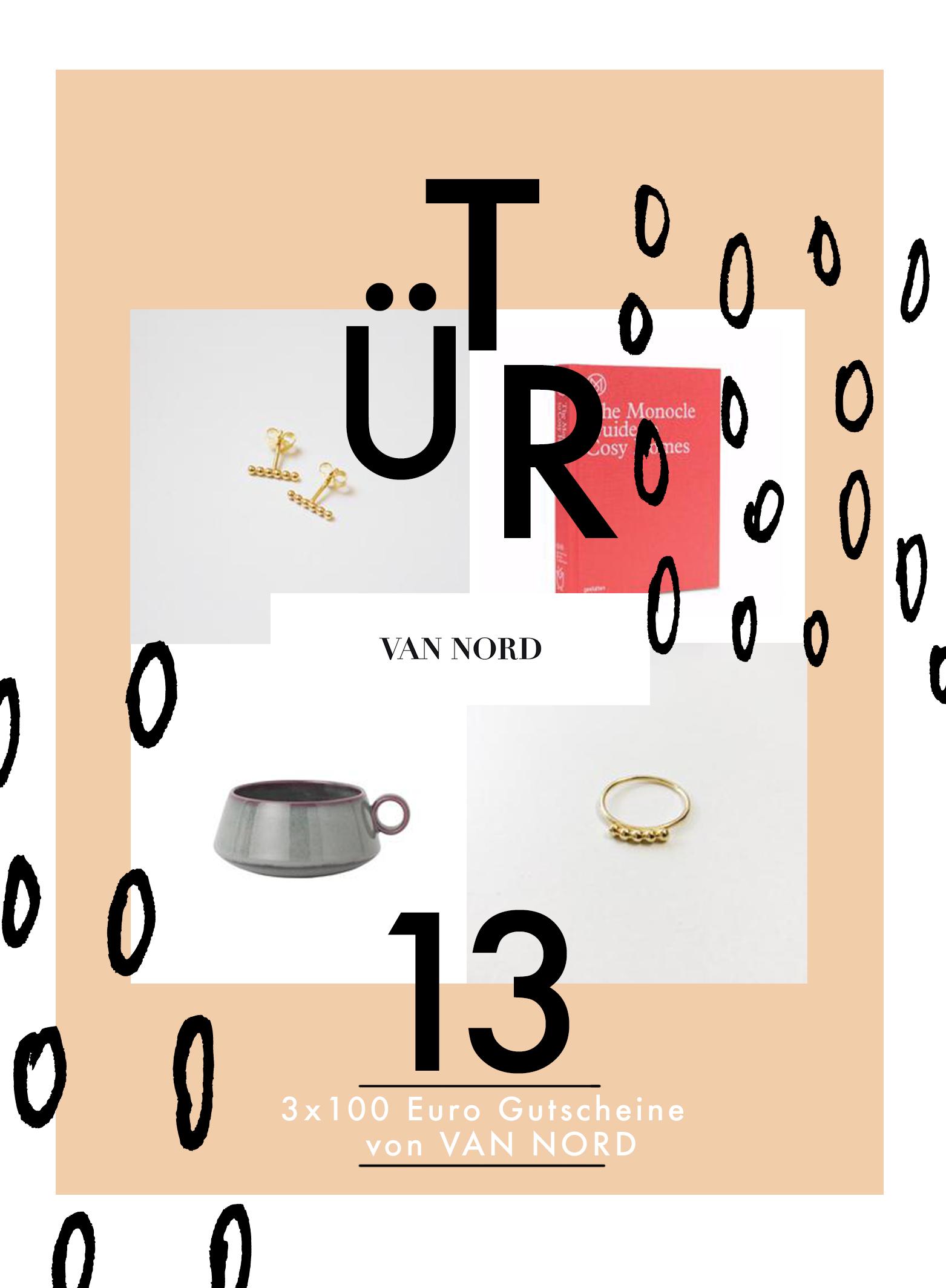 Tür 13: 3x Shopping-Gutscheine à 100 Euro von VAN NORD