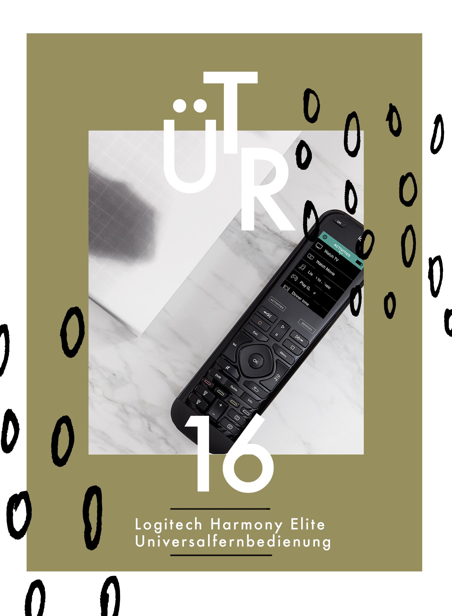 Tür 16: Logitech Harmony Elite Universalfernbedienung