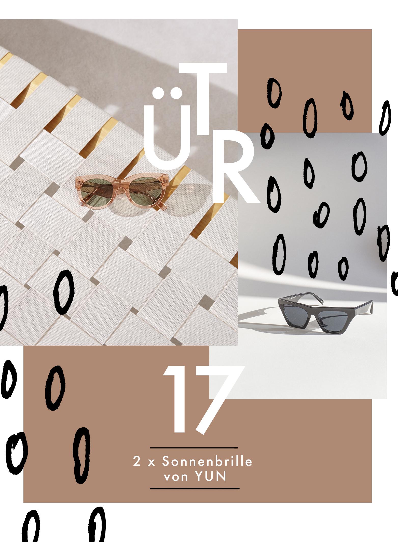 Tür 17: 2 x Sonnenbrille von YUN