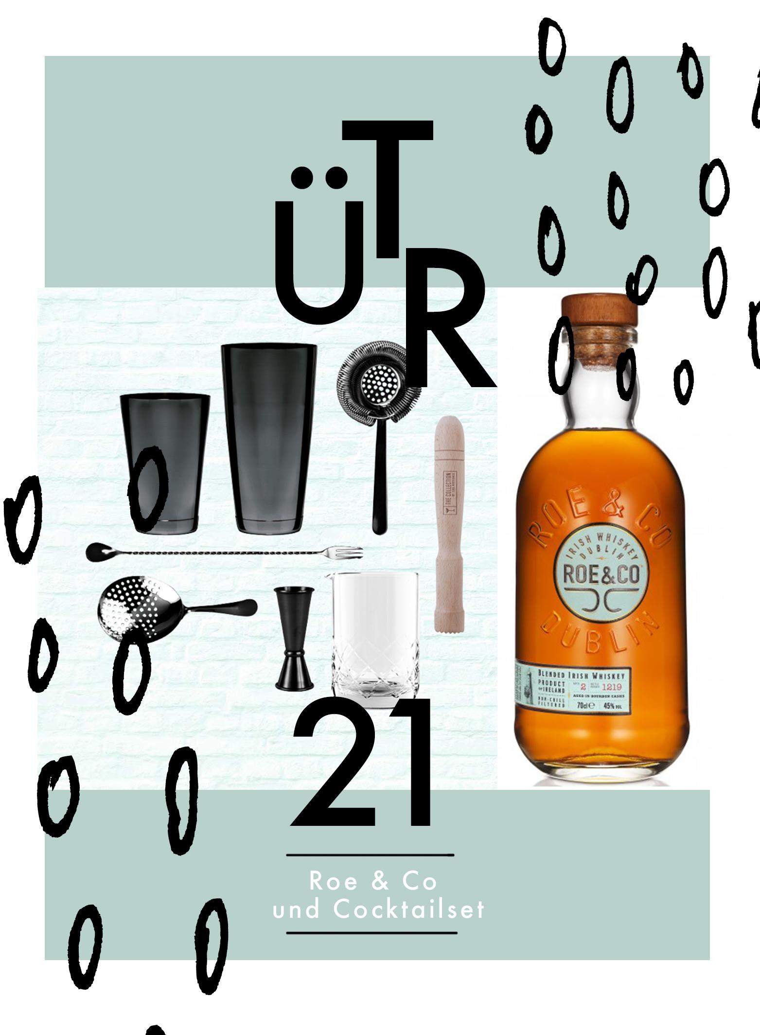Tür 21: Roe & Co und Cocktailset