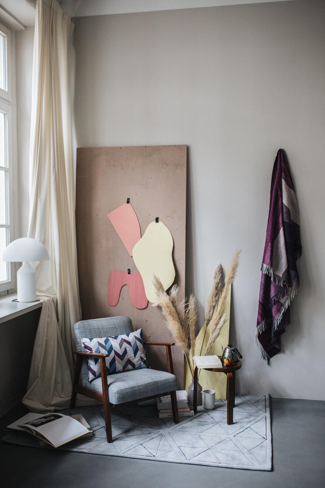Sessel, Teppich Interior, Grafische Muster