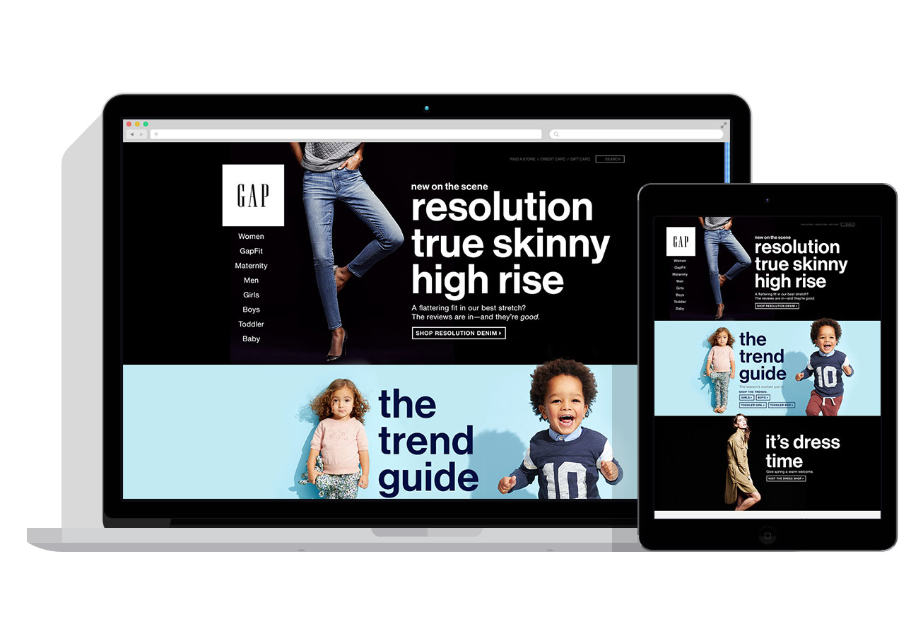Full-width Homepage Design - Full-width stacked messages to showcase large photography.