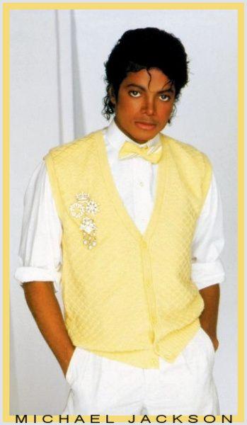 michael jackson yellow sweater
