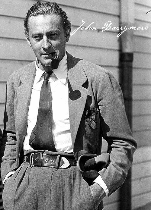 The Bundy Drive Boys. John Barrymore, W.C. Fields, Errol Flynn.