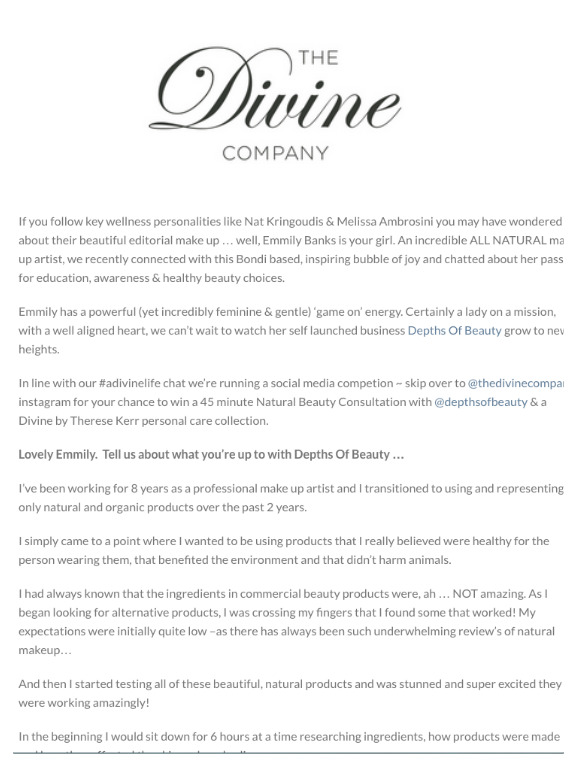DIVINE BY THERESE KERR FEATURE