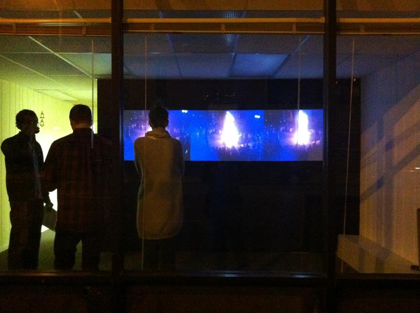 Video installation by David Oresick, 2011