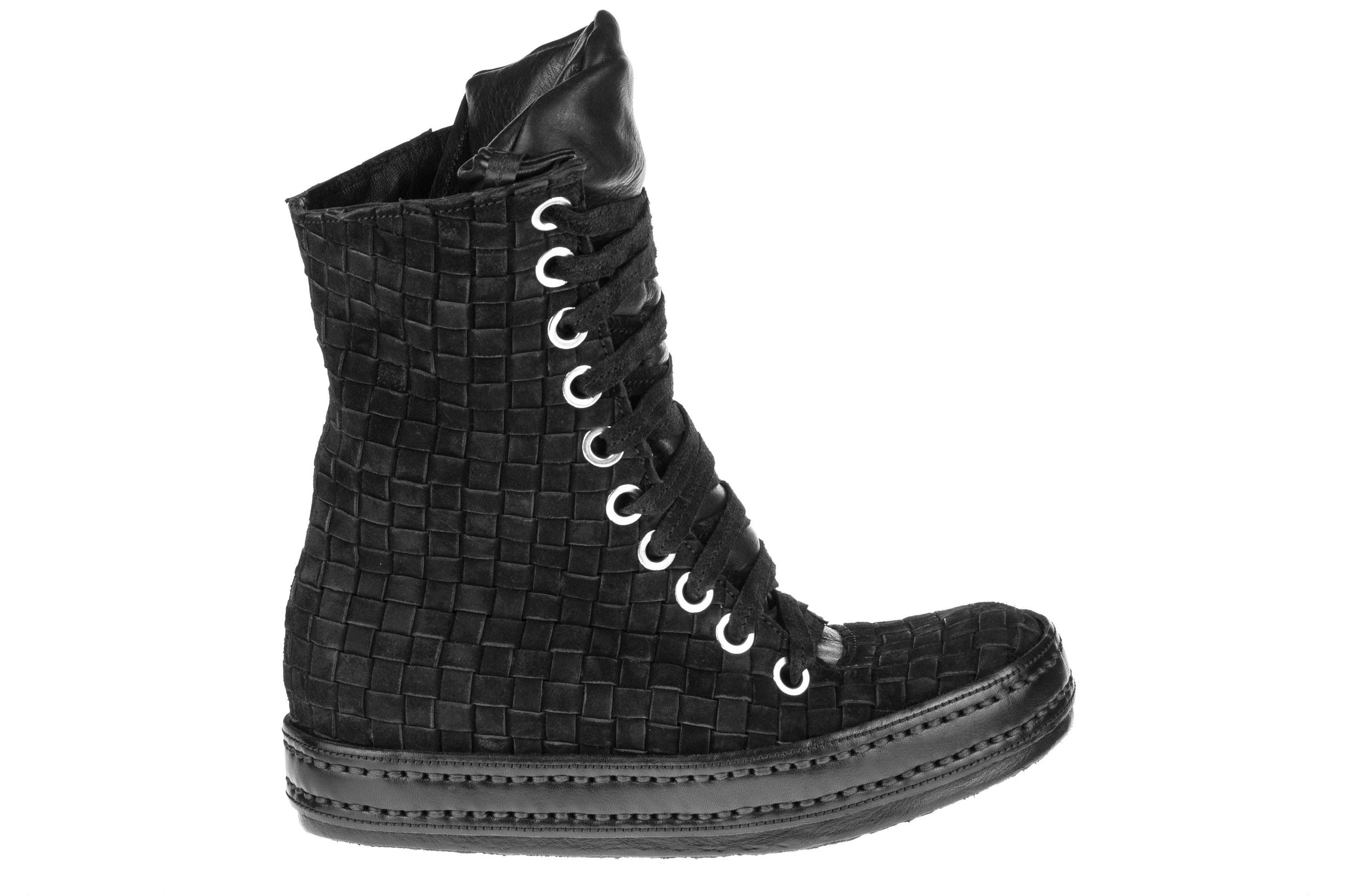 10Hole Woven Black Suede