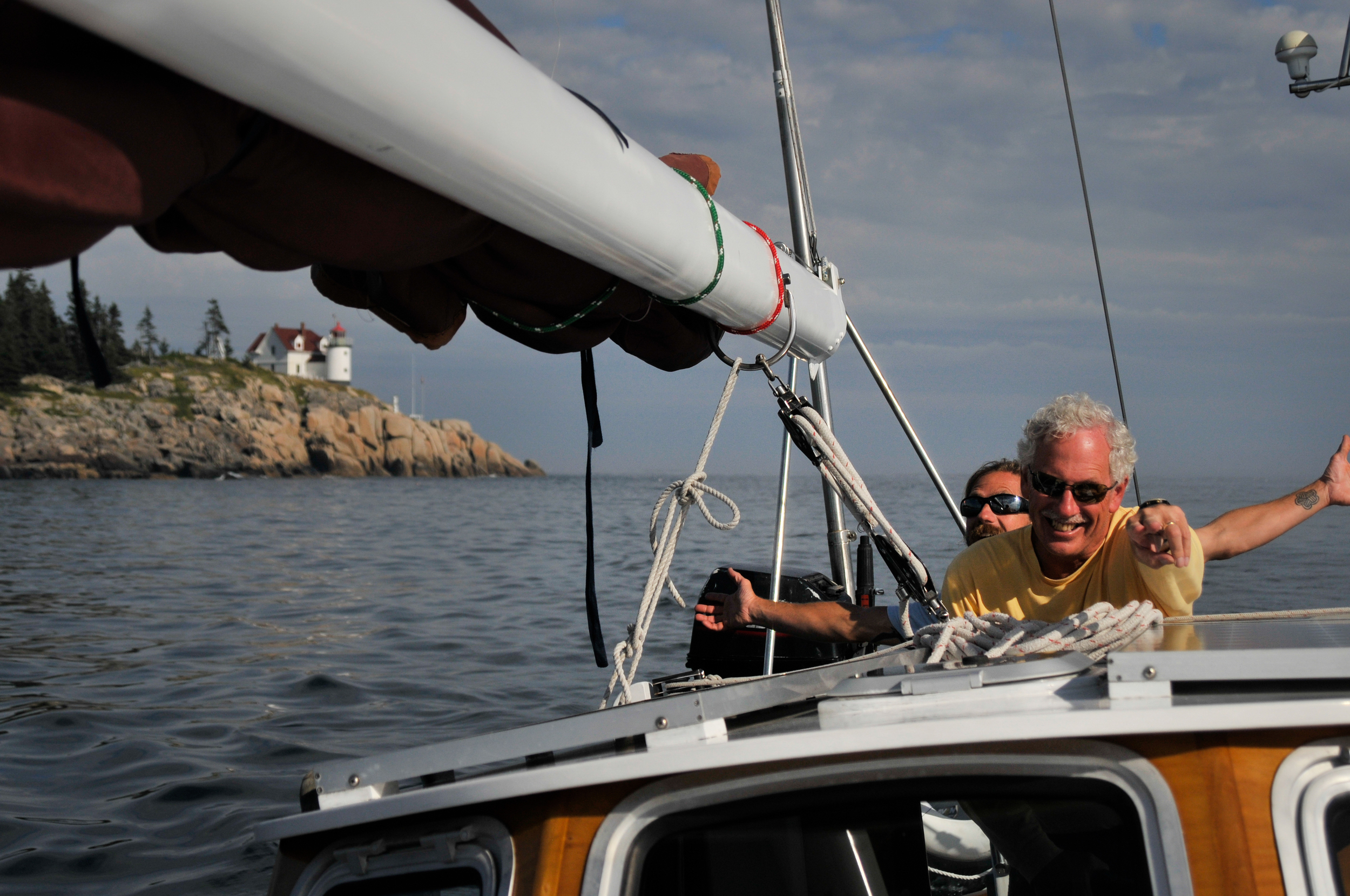Sailing Heron Neck Maine
