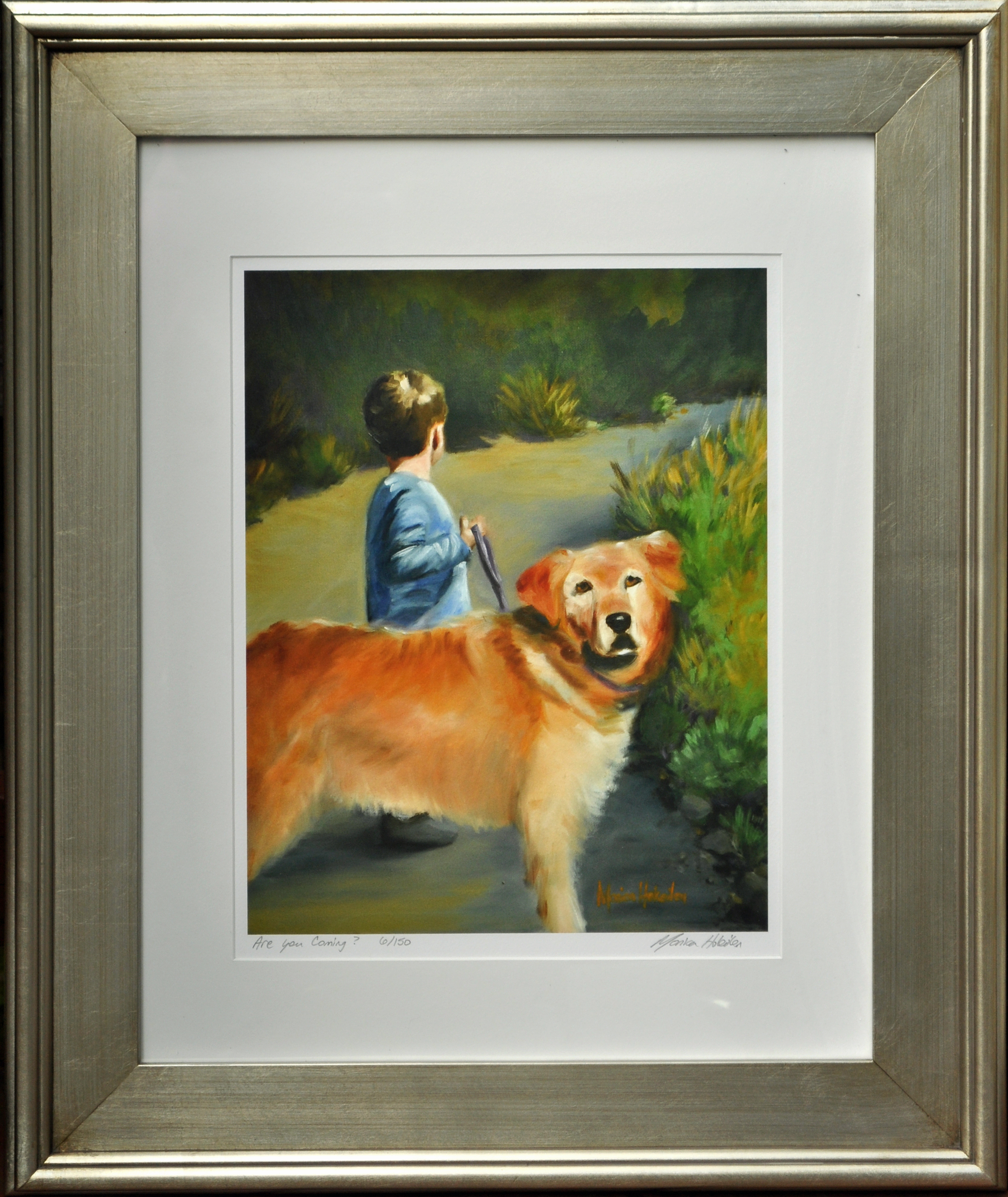 Are You Coming?, matted and framed fine art print