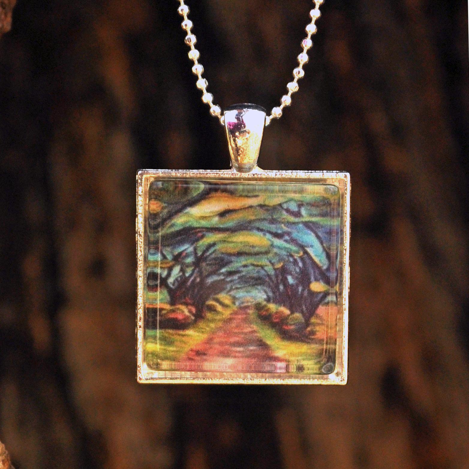 Path Through the Trees by Monica Hokeilen, pendant