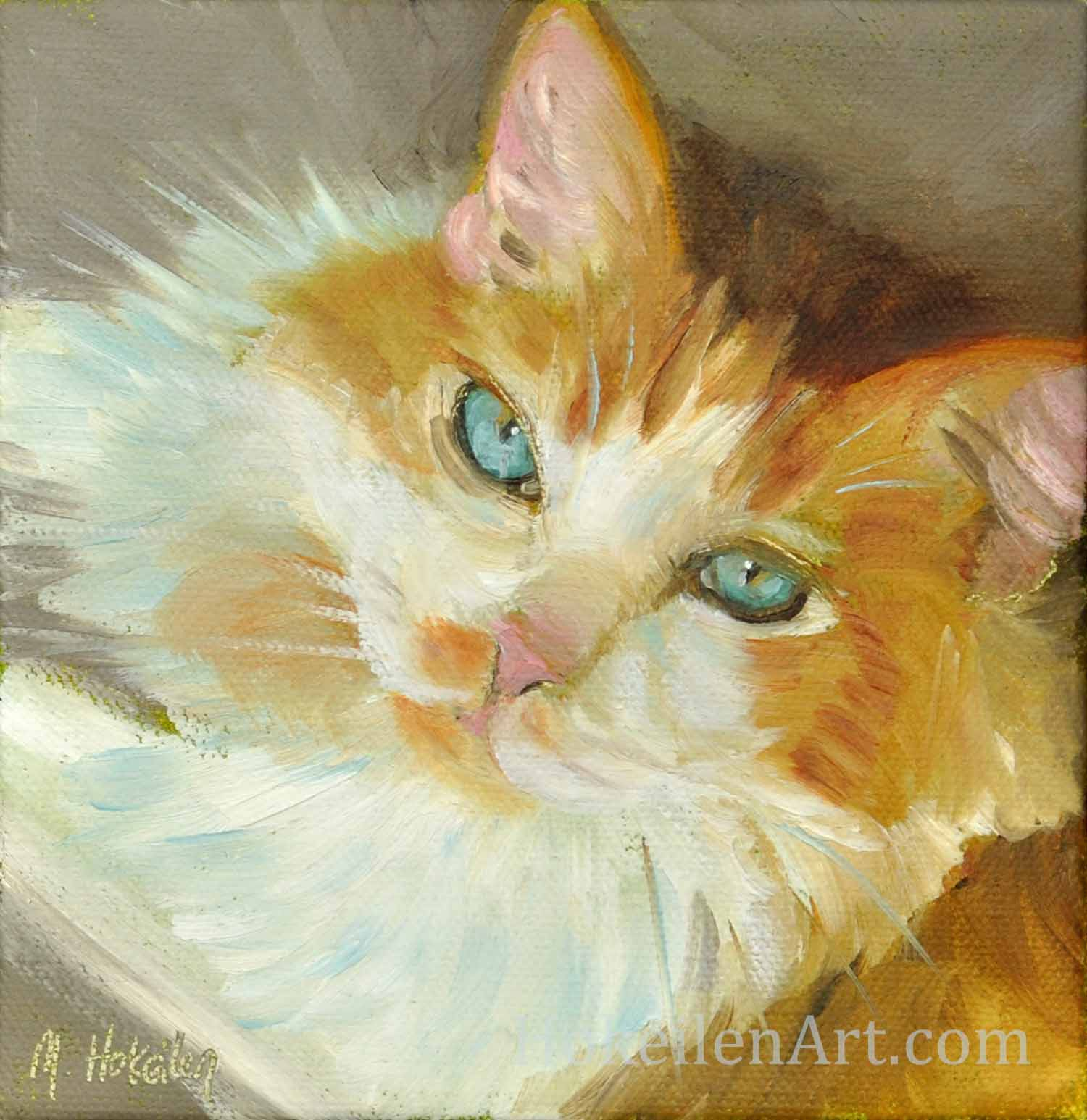 "Drew, oil on canvas, 6""x6"""