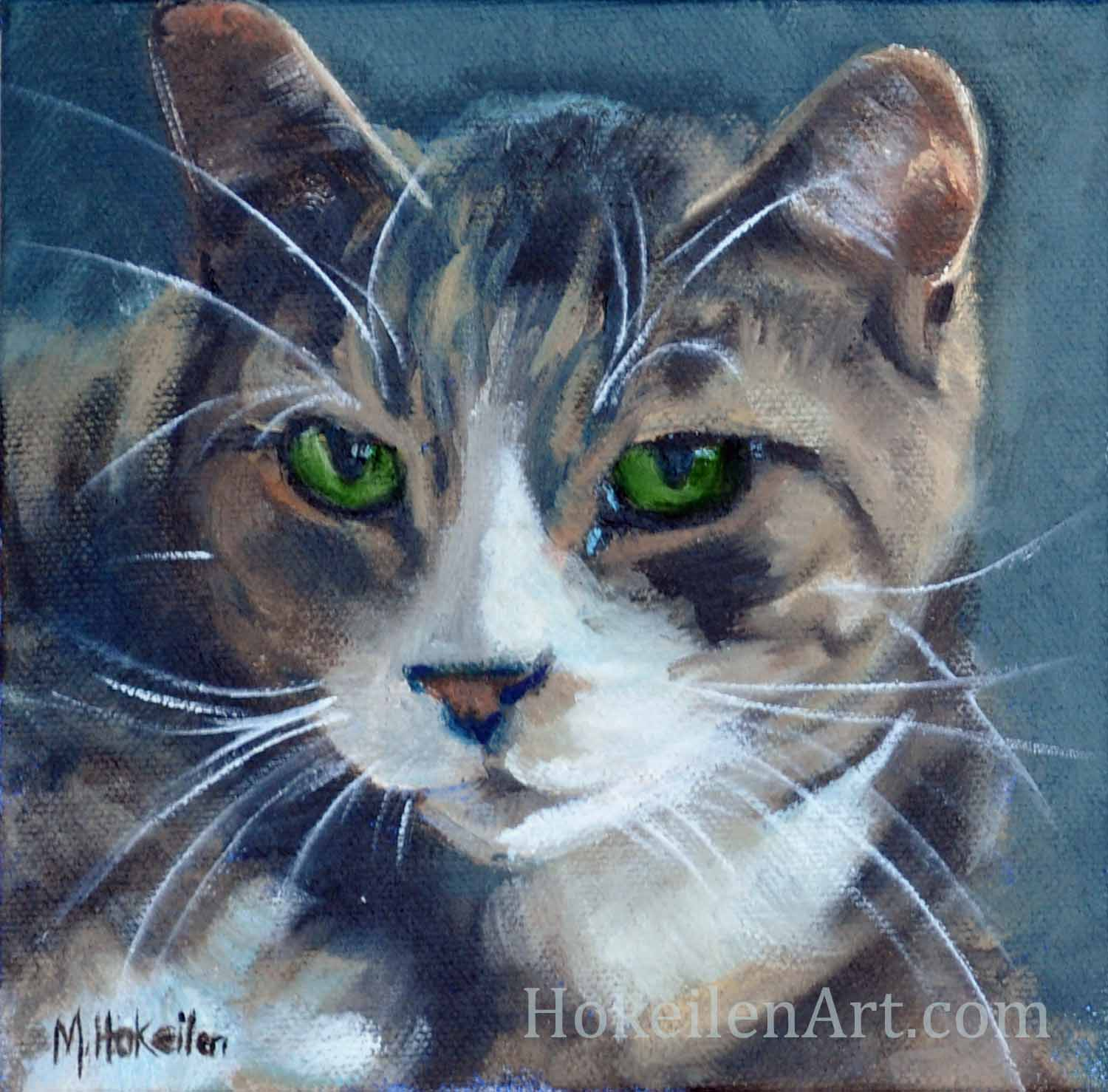"Mo, oil on canvas, 6""x6"""