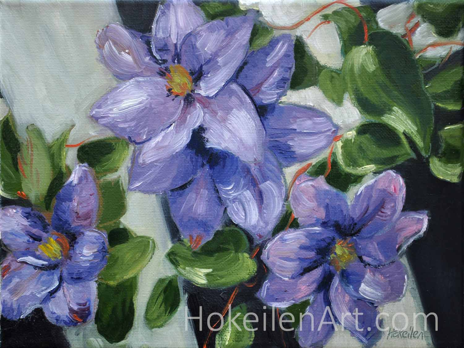 Purple Climbers - oil on canvas, 9