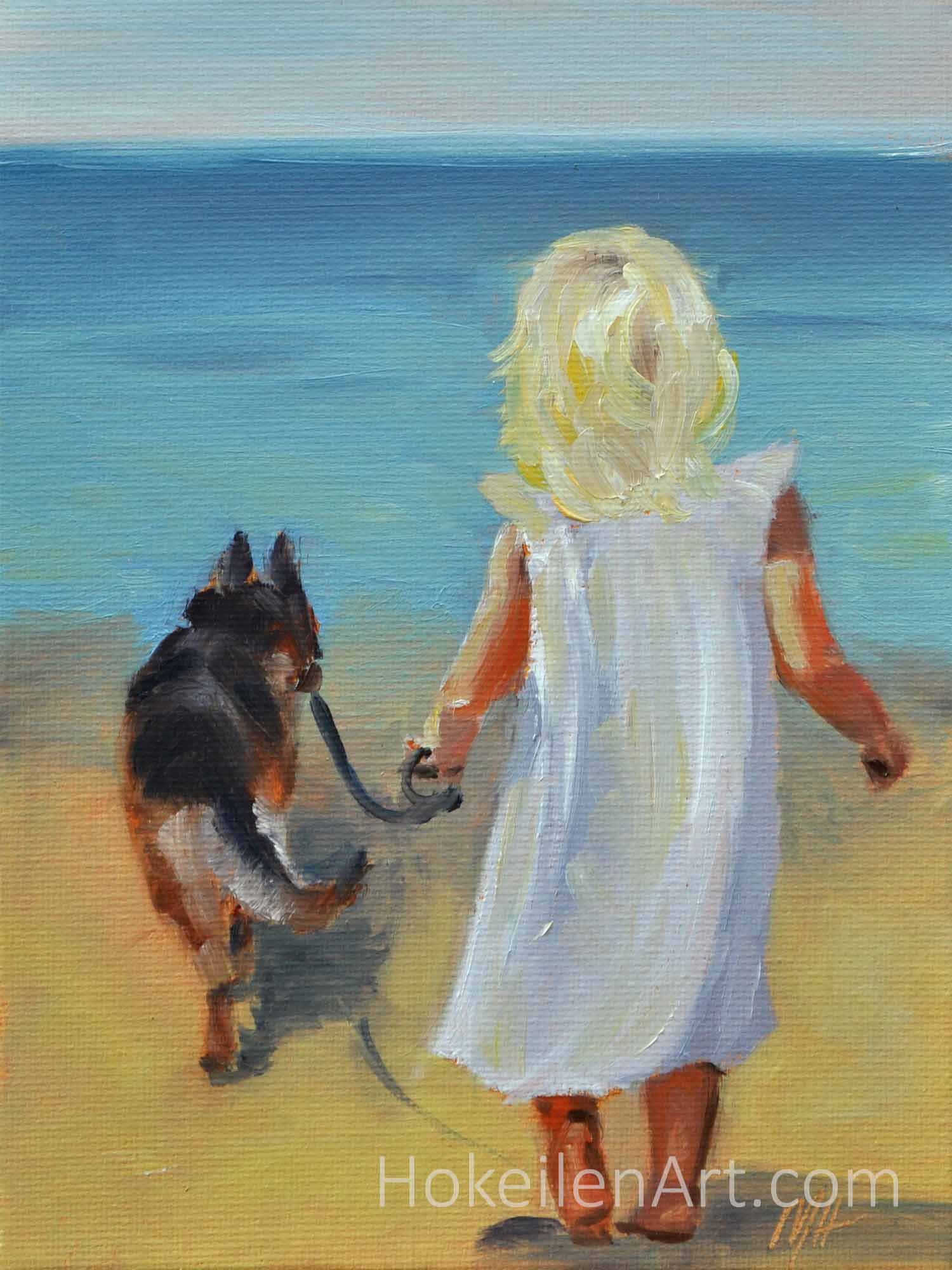 We Can Come Too - oil on canvas board, 8